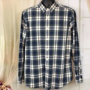 Nautica Sea Voyage Plaid Casual Button Up Shirt